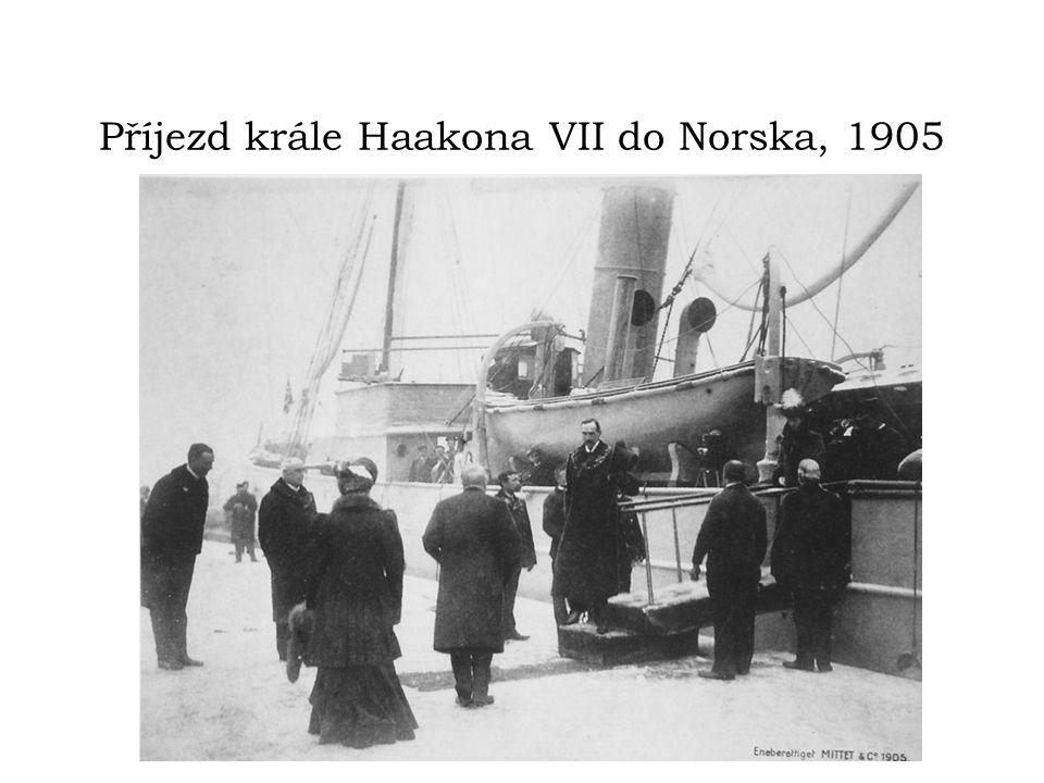 Příjezd krále Haakona VII do Norska, 1905