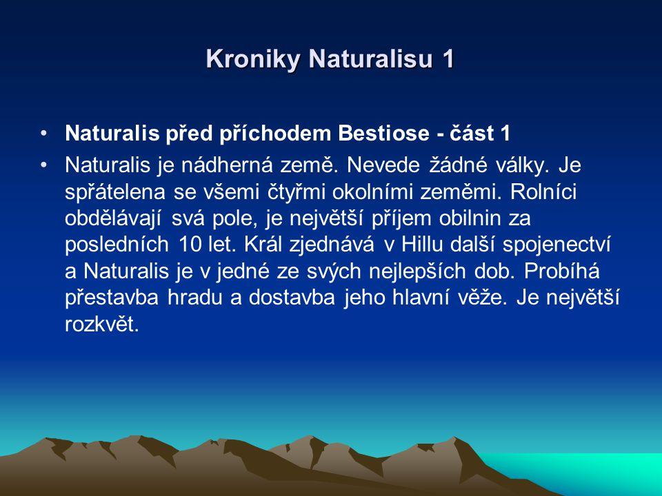 Kroniky Naturalisu 2 Příchod a vyhnání Bestiose - část 1 Schází se první sněm Velké rady čarodějů po padesáti letech.