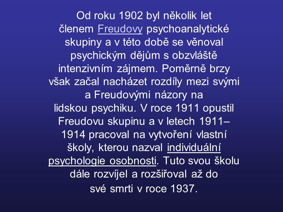 Od roku 1902 byl několik let členem Freudovy psychoanalytické skupiny a v této době se věnoval psychickým dějům s obzvláště intenzivním zájmem.