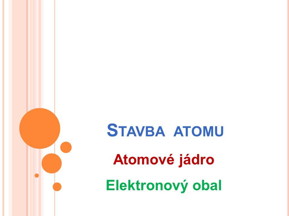 S TAVBA ATOMU Atomové jádro Elektronový obal