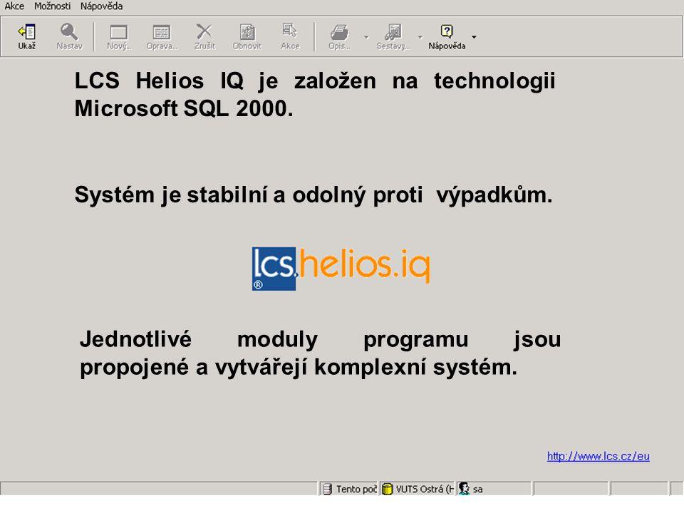 Jednotlivé moduly programu jsou propojené a vytvářejí komplexní systém.