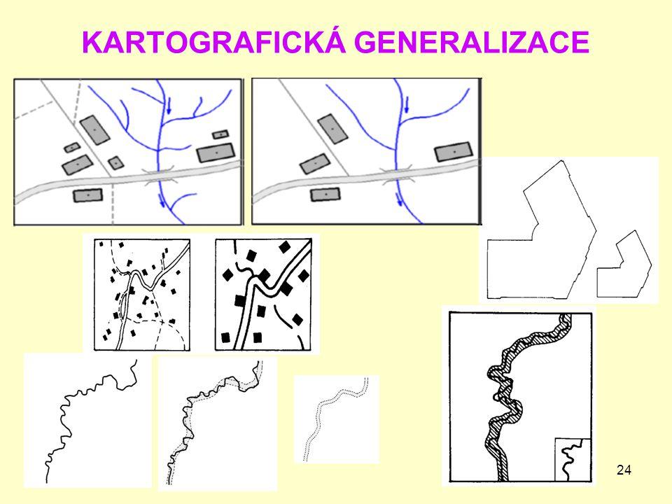 24 KARTOGRAFICKÁ GENERALIZACE