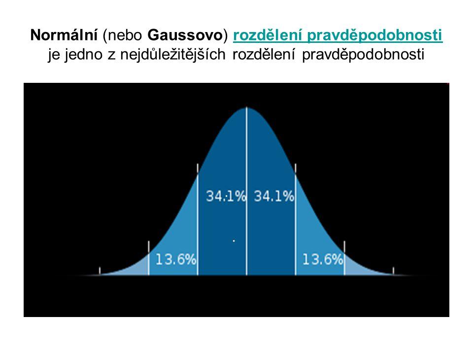 Normální (nebo Gaussovo) rozdělení pravděpodobnosti je jedno z nejdůležitějších rozdělení pravděpodobnostirozdělení pravděpodobnosti