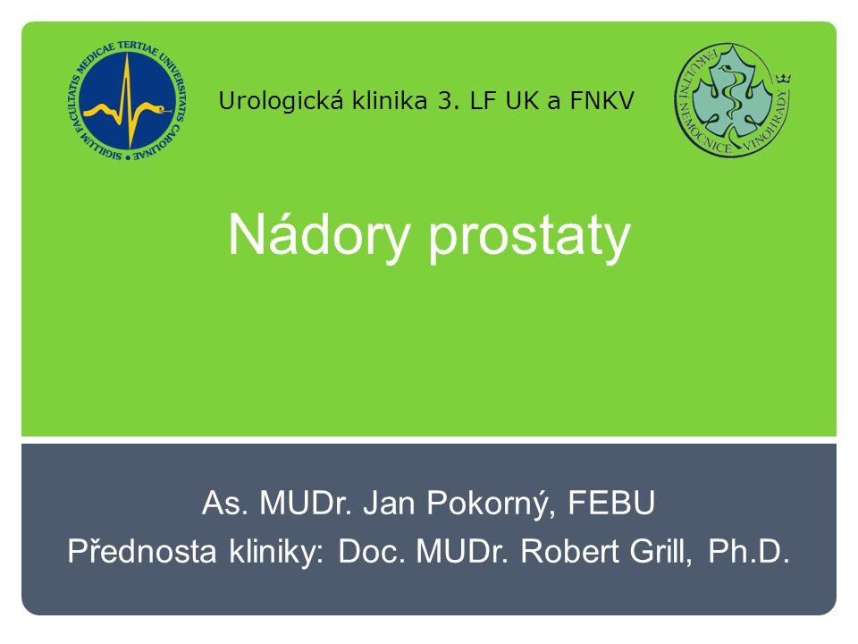 Nádory prostaty Léčba: Hormonální léčba:  LHRH analoga – centrální blokáda  Antinadrogen – periferní blokáda  Ketokonazol – adrenální produkce  Chirurgická – bilaterální orchiectomie  Kombinovaná