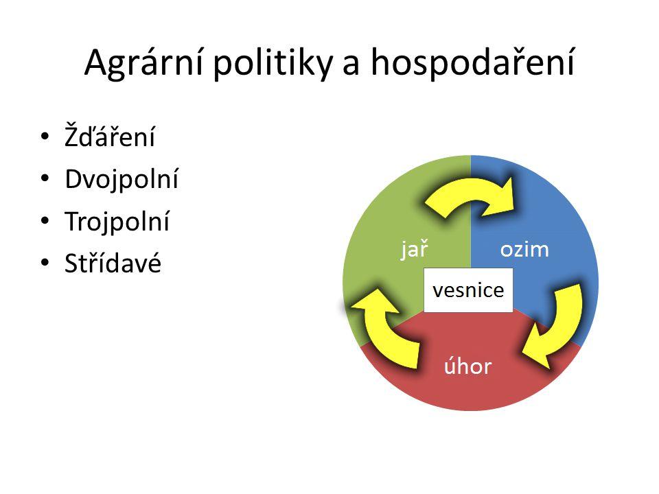 Agrární politiky a hospodaření Žďáření Dvojpolní Trojpolní Střídavé