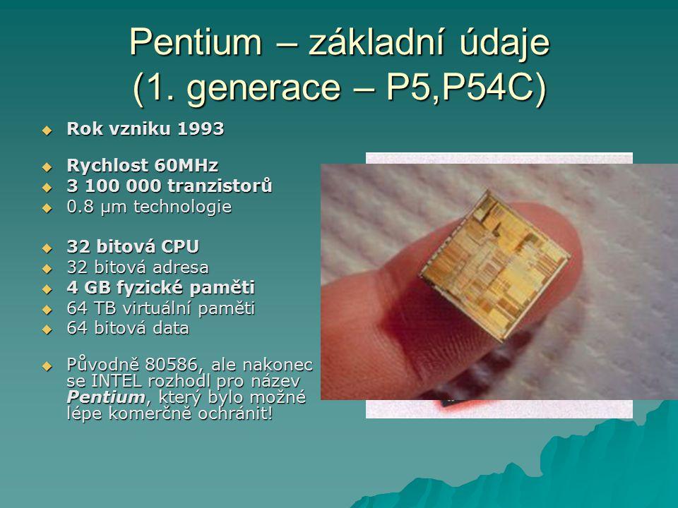 Pentium – základní údaje (1.