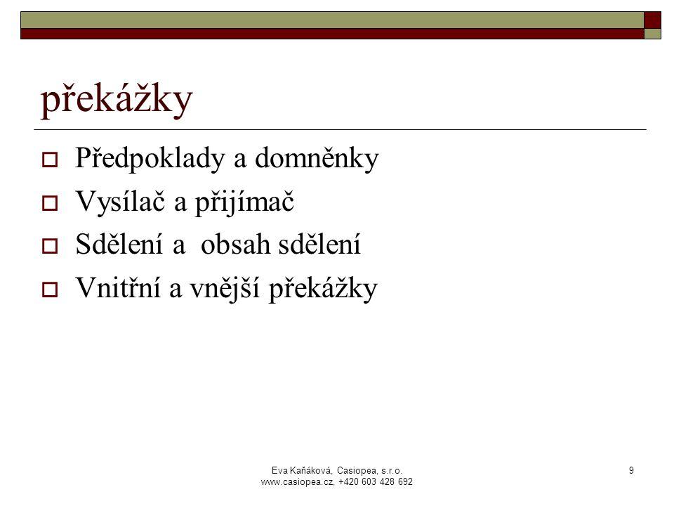 Eva Kaňáková, Casiopea, s.r.o.www.casiopea.cz, +420 603 428 692 10 naslouchání  Jak nasloucháme.