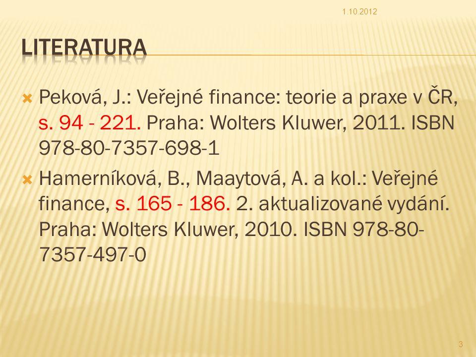 Prof.Ing. Václav Vybíhal, CSc.24.4.2015 3SOUSTAVA VEŘEJNÝCH ROZPOČTŮ ČR 3.1 Veřejné rozpočty v ČR.
