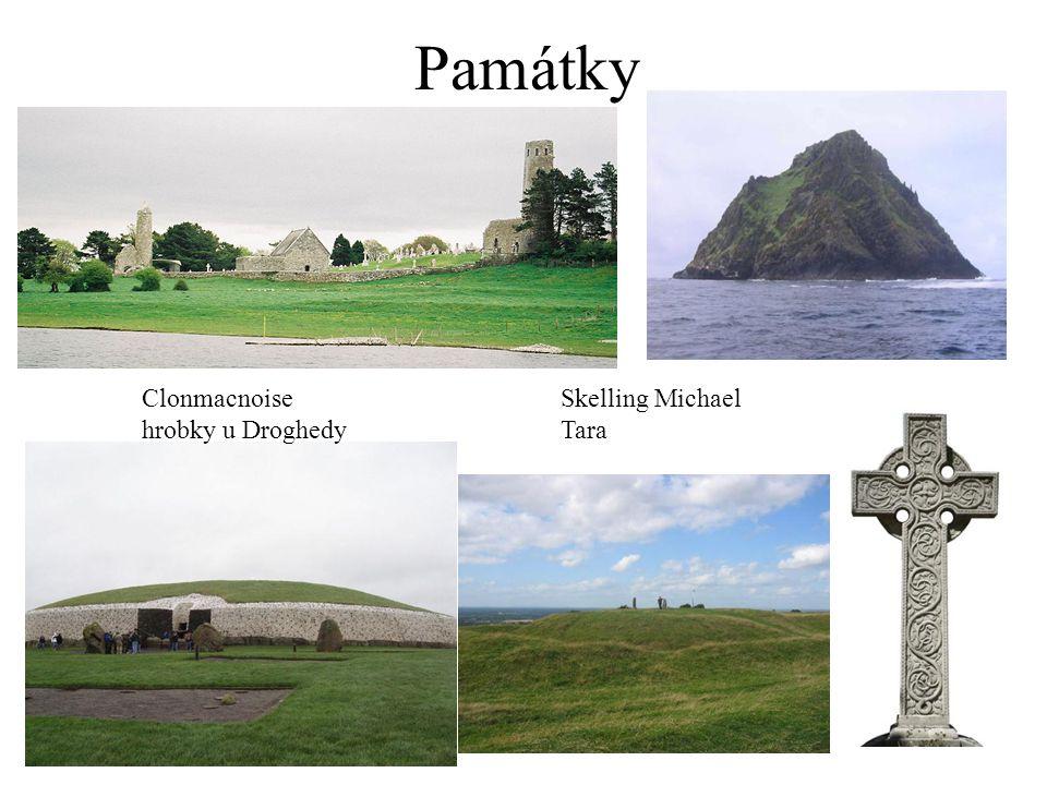 Památky ClonmacnoiseSkelling Michael hrobky u Droghedy Tara
