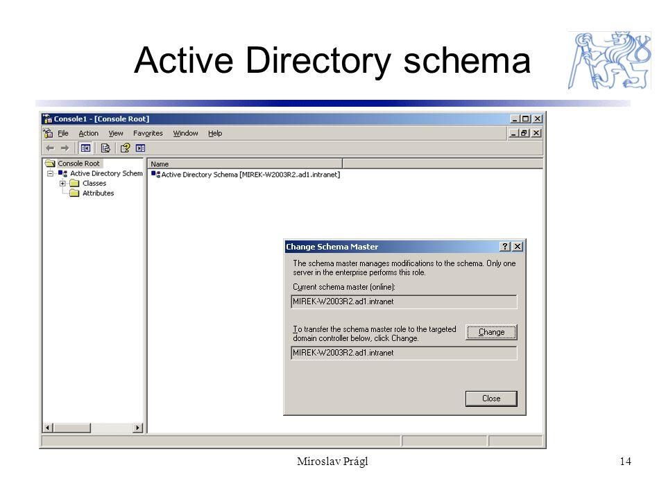 Miroslav Prágl14 Active Directory schema