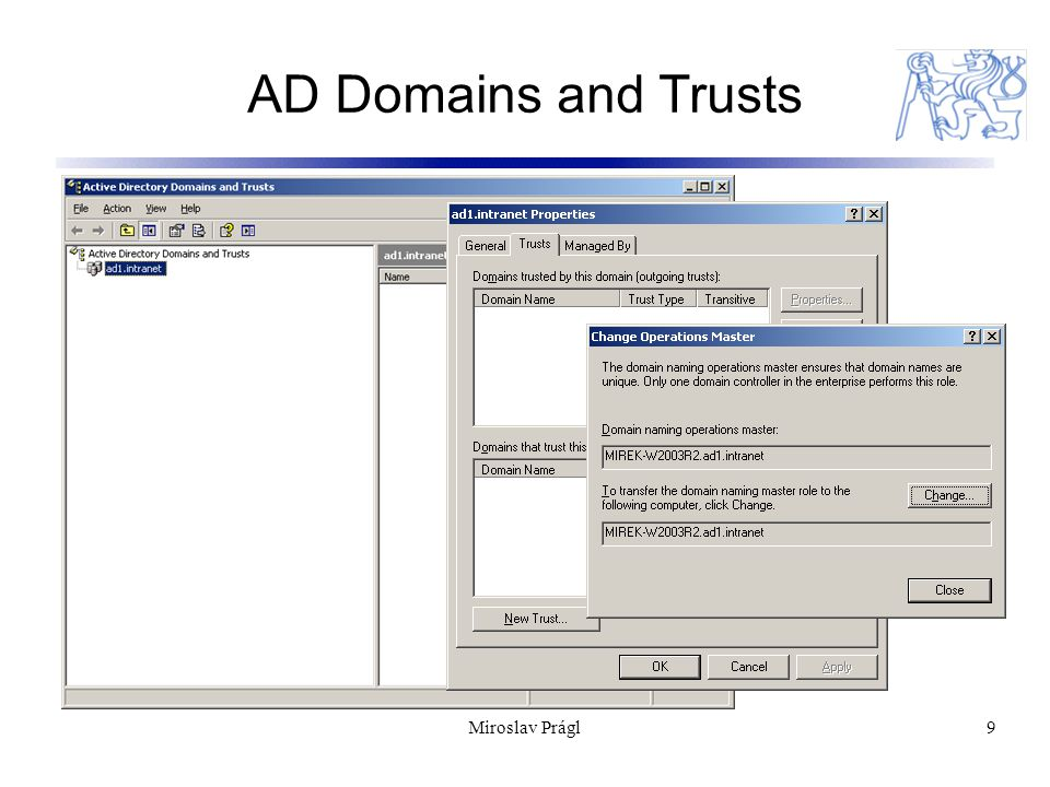 Miroslav Prágl9 AD Domains and Trusts