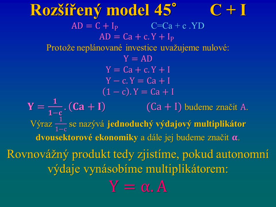 Rozšířený model 45° C + I