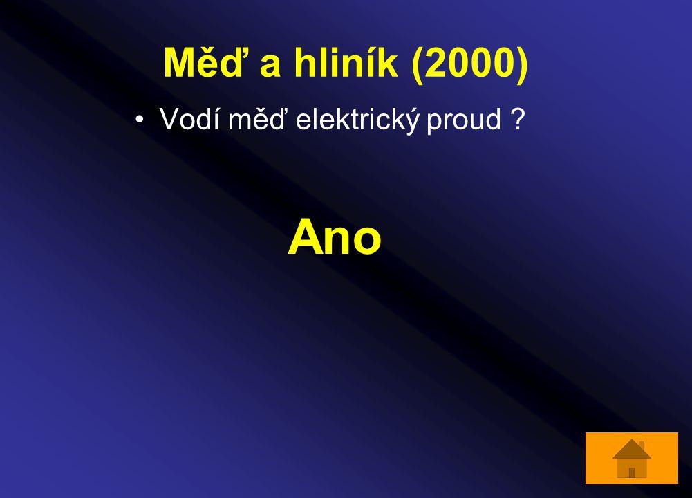 Měď a hliník (2000) Vodí měď elektrický proud ? Ano
