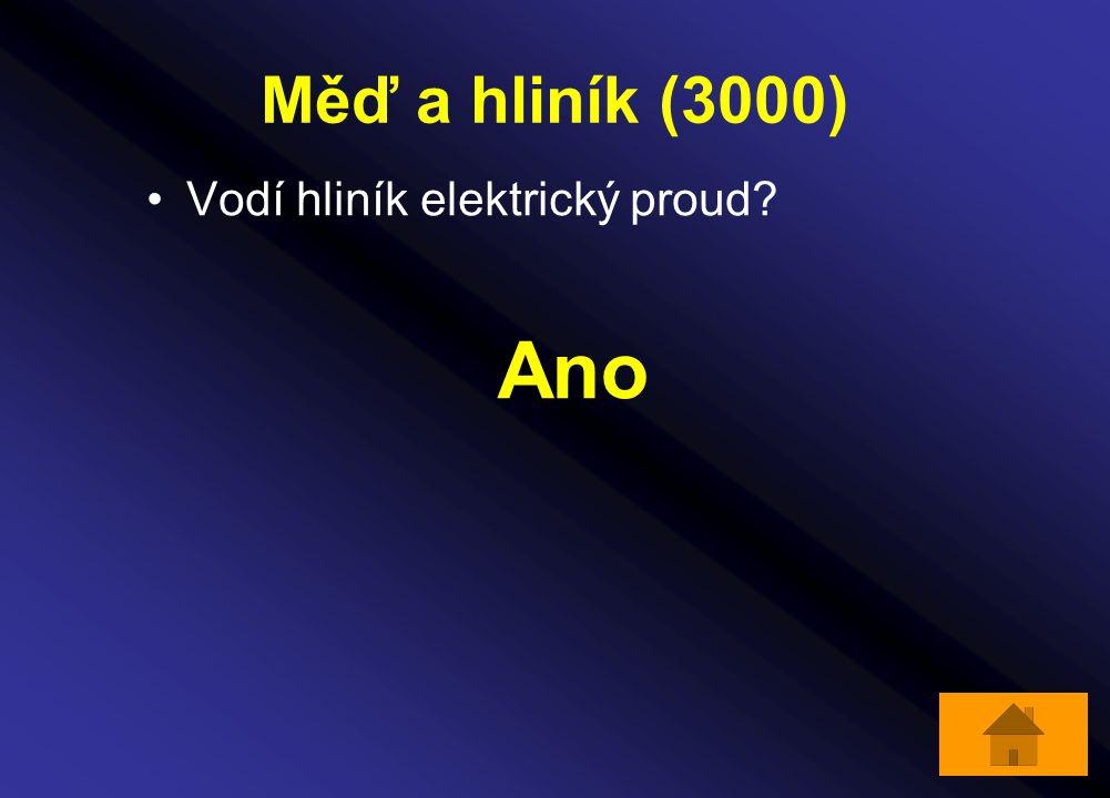 Měď a hliník (3000) Vodí hliník elektrický proud? Ano