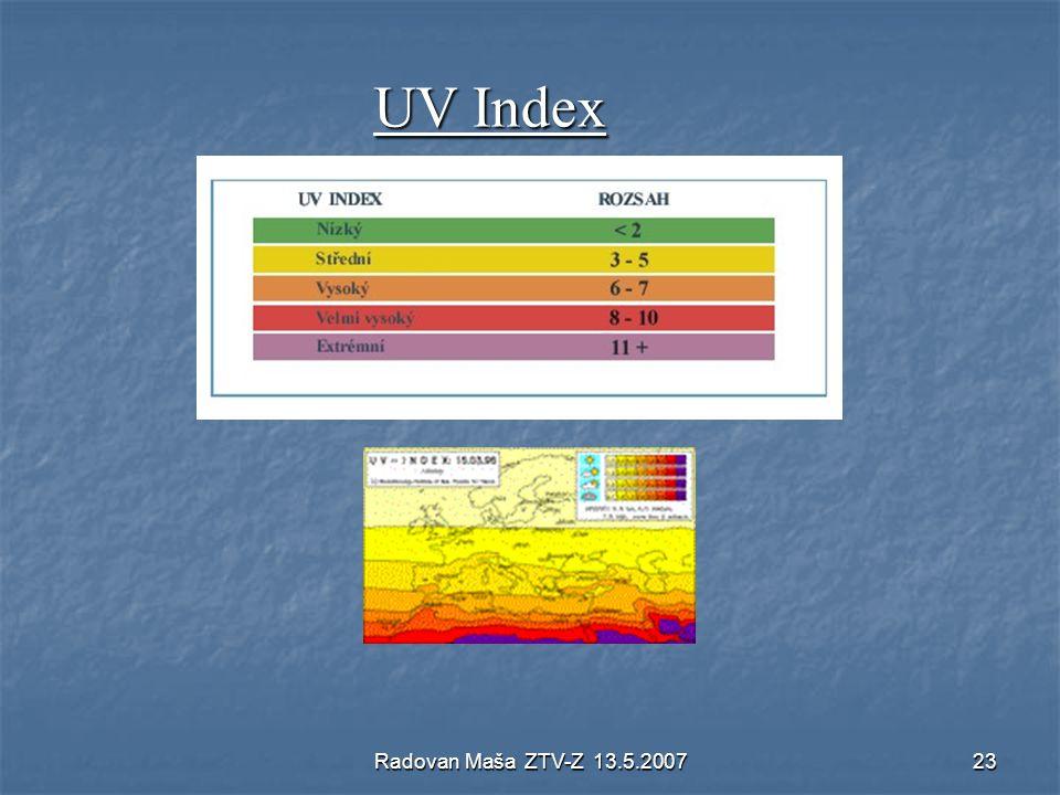 Radovan Maša ZTV-Z 13.5.200723 UV Index