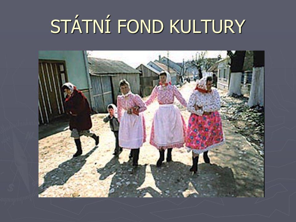 STÁTNÍ FOND KULTURY