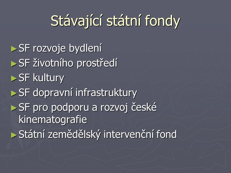 ► Vznik: 1.7.1992 ► Úprava: 241/1992 Sb. ► Správce: MK ► Statut: www.mkcr.cz ► Sídlo: Praha