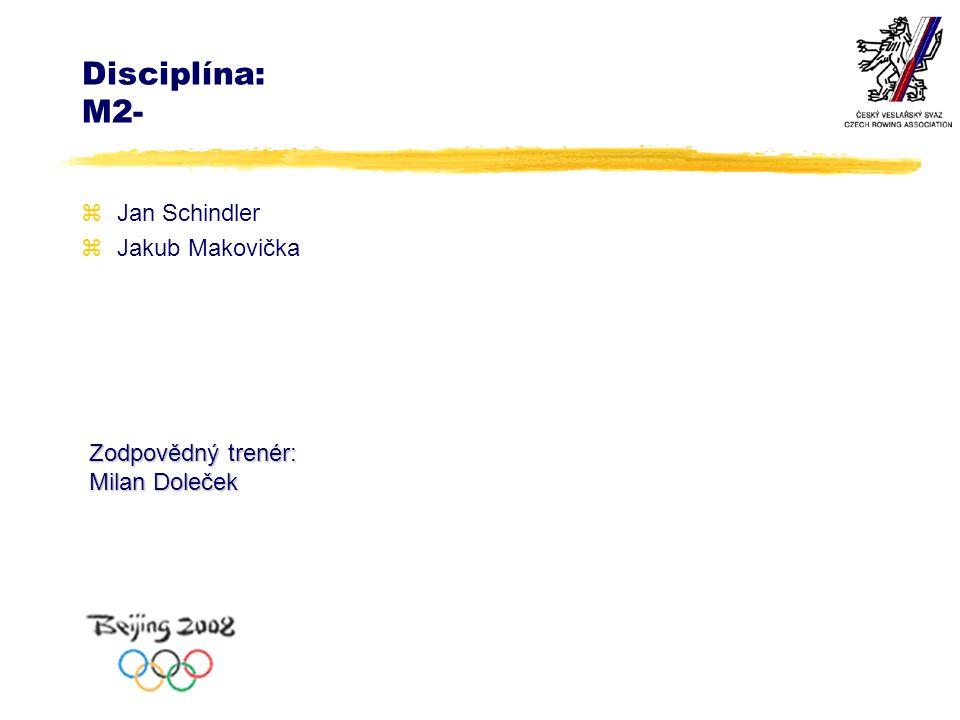 Disciplína: M2- zJan Schindler zJakub Makovička Zodpovědný trenér: Milan Doleček