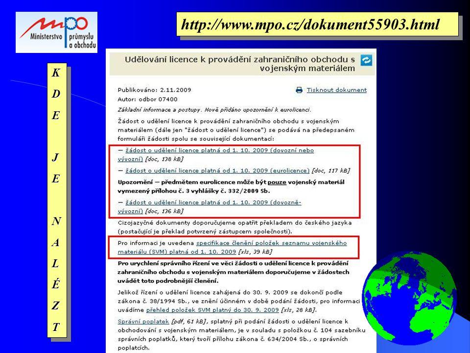 KDEJENALÉZTKDEJENALÉZT http://www.mpo.cz/dokument55903.html
