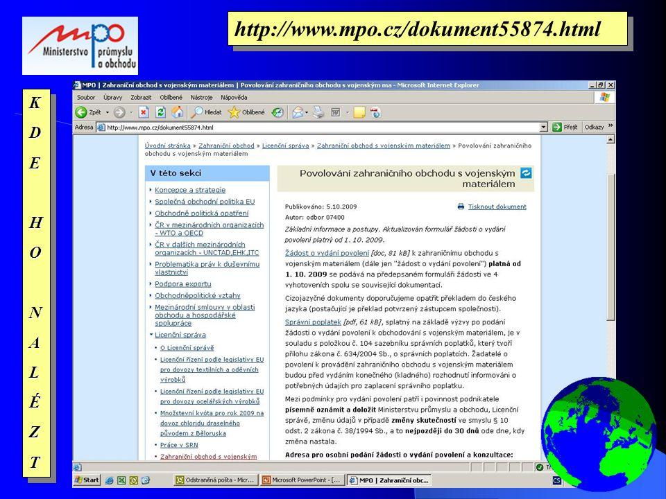 KDEHONALÉZTKDEHONALÉZT http://www.mpo.cz/dokument55874.html