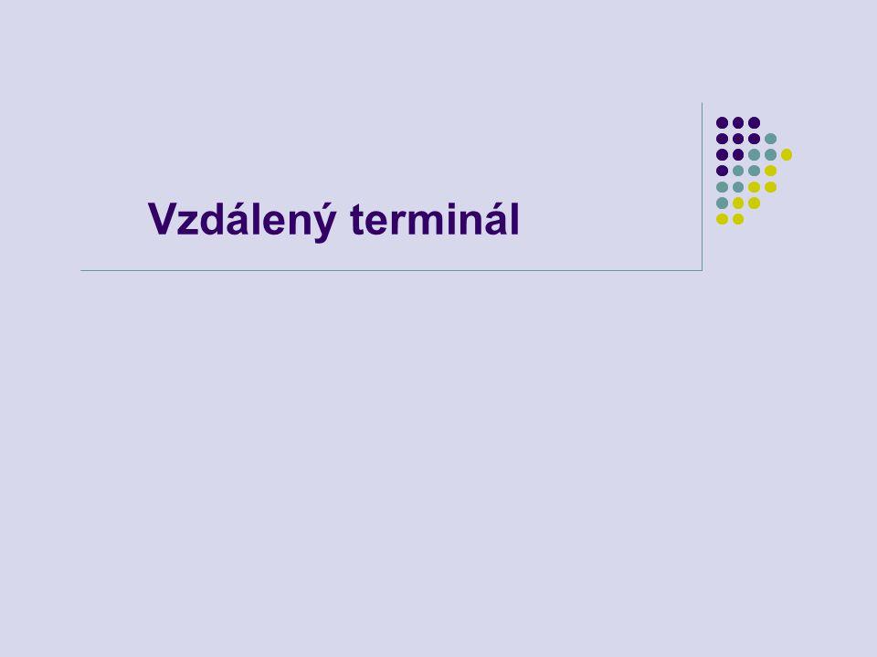 Vzdálený terminál