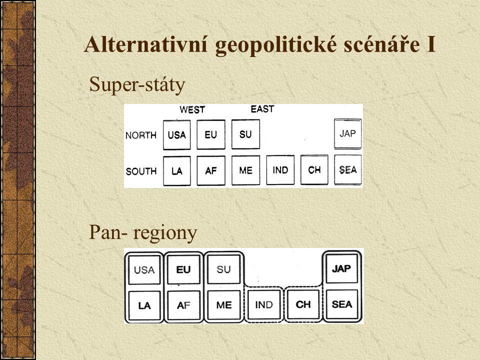 Alternativní geopolitické scénáře I Super-státy Pan- regiony