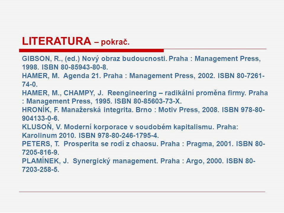 DatumTémaPřednášející So 25.10.Pojetí managementu.