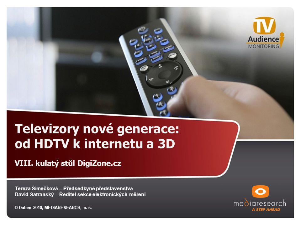 Televizory nové generace: od HDTV k internetu a 3D VIII.