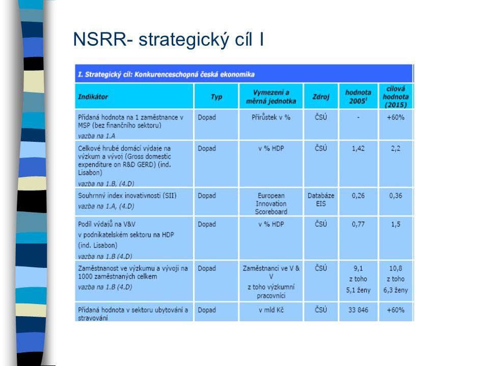 NSRR- strategický cíl I