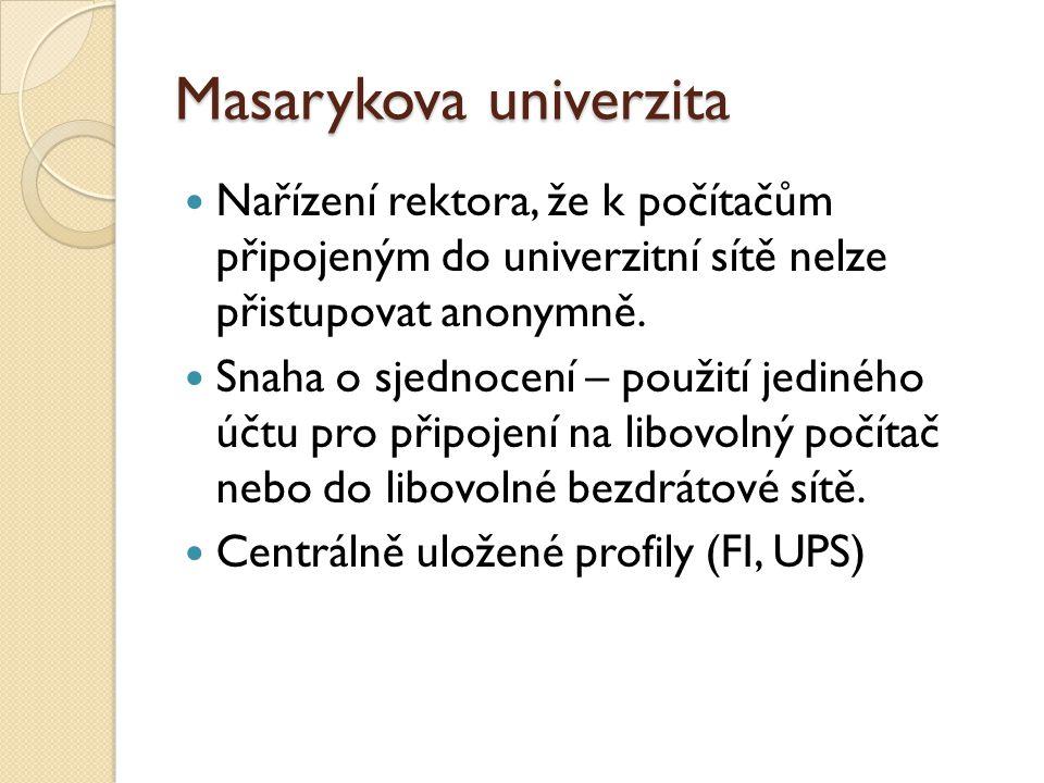 Masarykova univerzita Nařízení rektora, že k počítačům připojeným do univerzitní sítě nelze přistupovat anonymně.