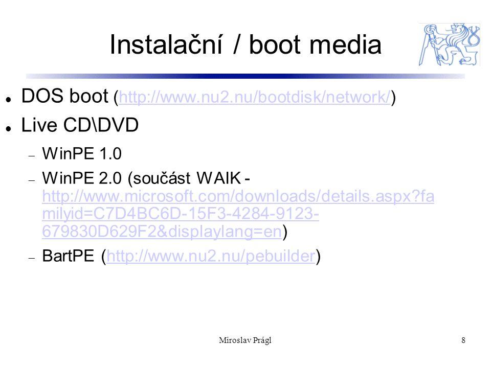 Instalace aplikací 9 MSI jako nativní formát Existuje velké množství instalátorů pre které MSI funguje jko wrapper (InstallShield) Využívá se D.T.A.P.