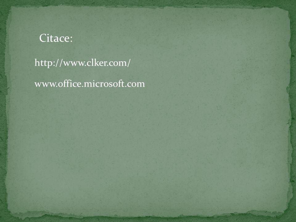 http://www.clker.com/ www.office.microsoft.com Citace:
