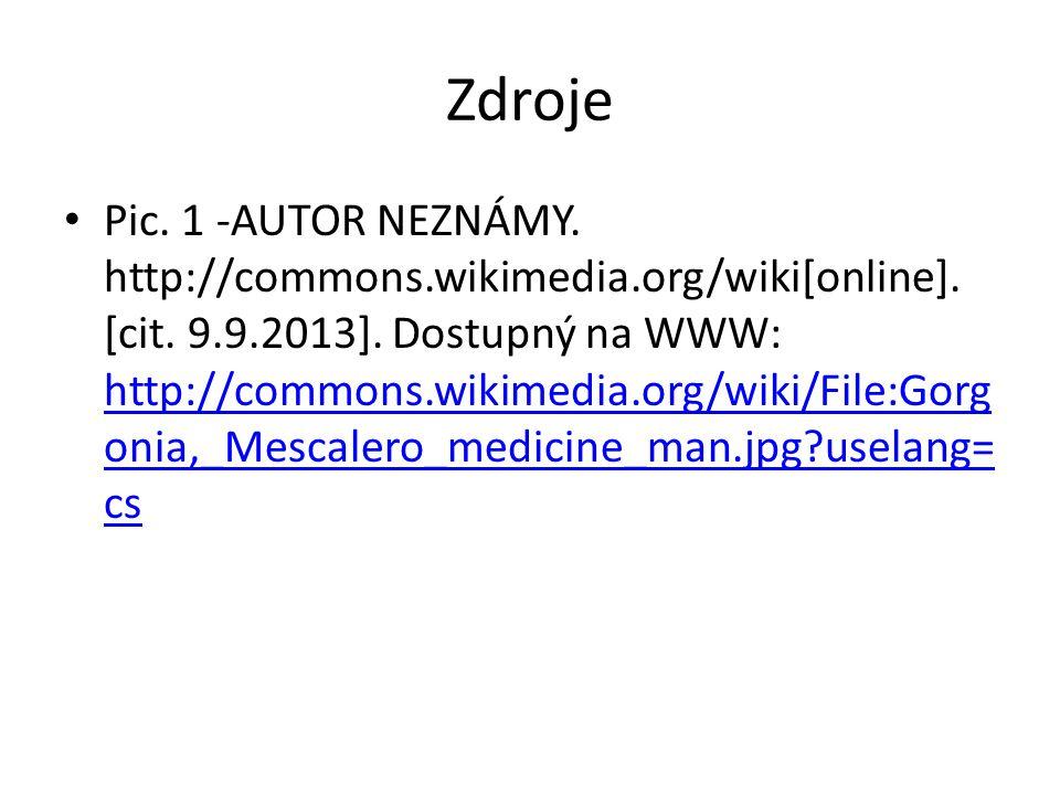 Zdroje Pic. 1 -AUTOR NEZNÁMY. http://commons.wikimedia.org/wiki[online]. [cit. 9.9.2013]. Dostupný na WWW: http://commons.wikimedia.org/wiki/File:Gorg