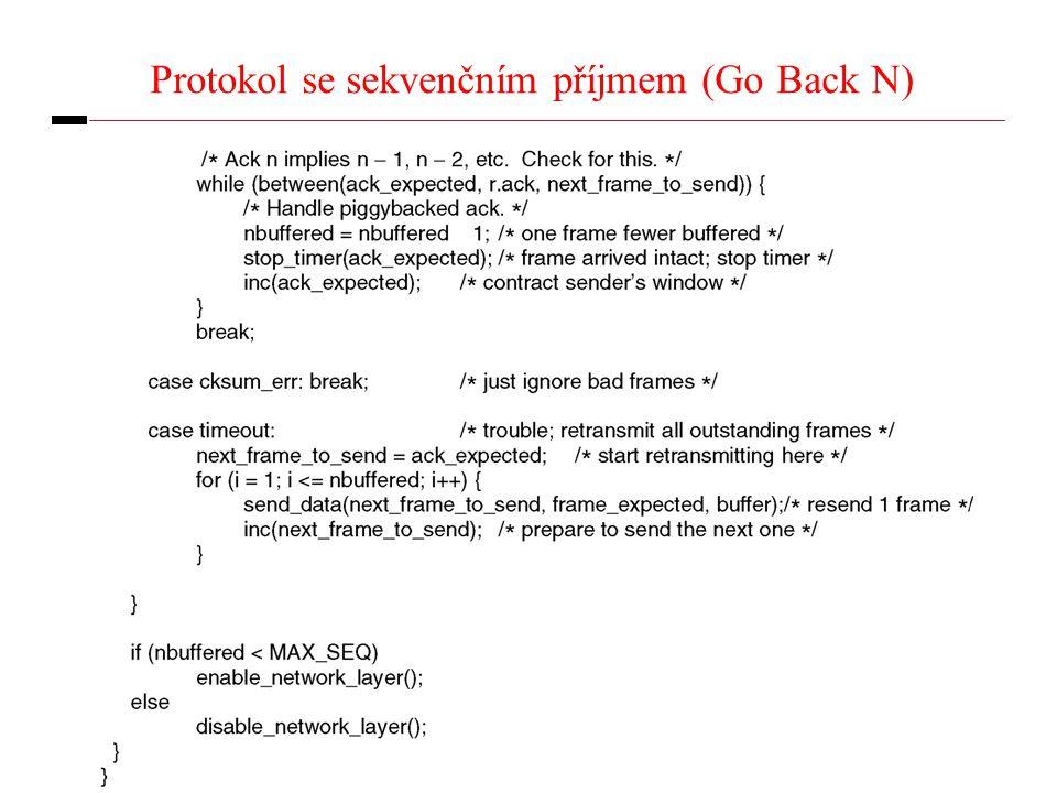 29 Protokol se sekvenčním příjmem (Go Back N)
