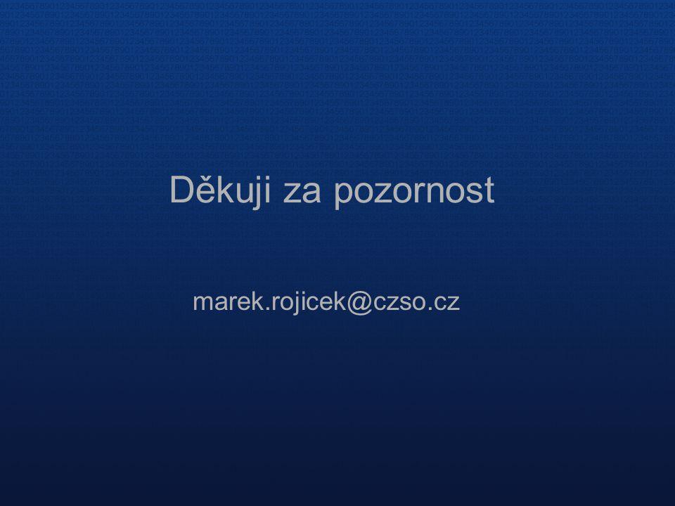 Děkuji za pozornost marek.rojicek@czso.cz