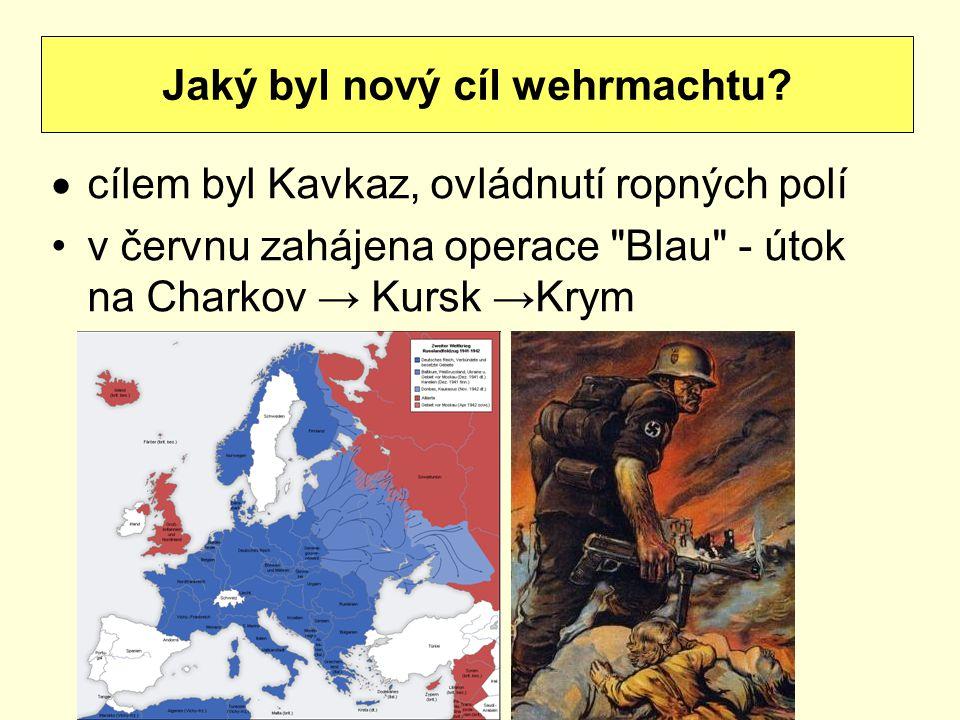  cílem byl Kavkaz, ovládnutí ropných polí v červnu zahájena operace