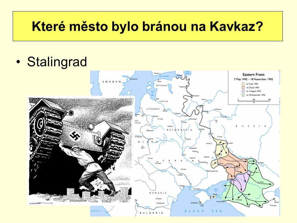 Stalingrad Které město bylo bránou na Kavkaz?