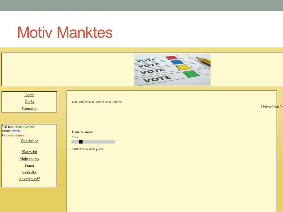 Motiv Manktes Manktes.cz - Jan Sochor Manktes@manktes.cz