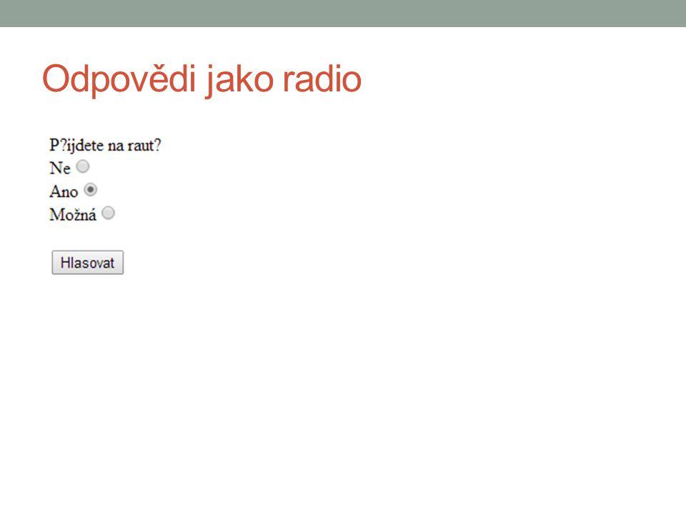 Odpovědi jako radio