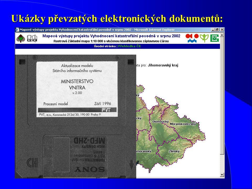 Ukázky převzatých elektronických dokumentů: