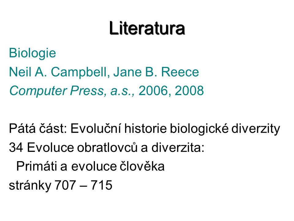 Literatura Biologie Neil A. Campbell, Jane B. Reece Computer Press, a.s., 2006, 2008 Pátá část: Evoluční historie biologické diverzity 34 Evoluce obra