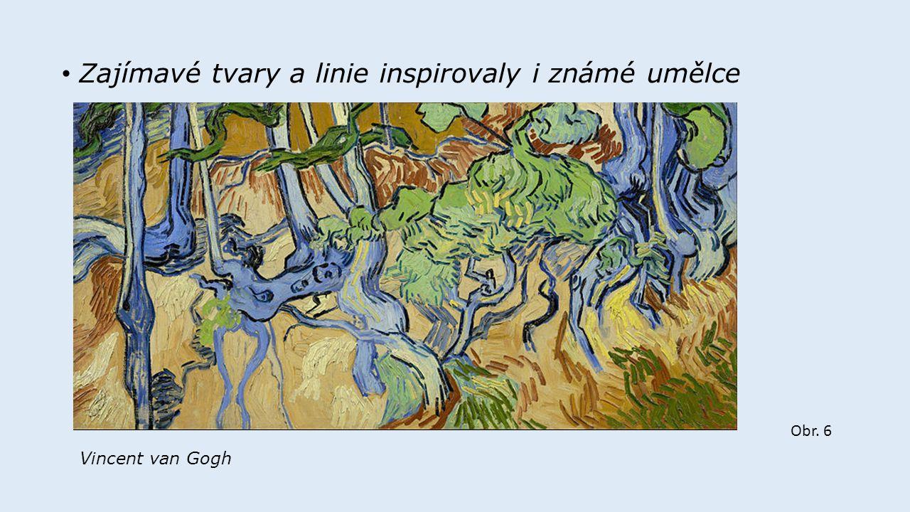 Obr.9 Volné barevné kompozice dětí inspirované členitostí a spletitostí kořenového systému stromů.