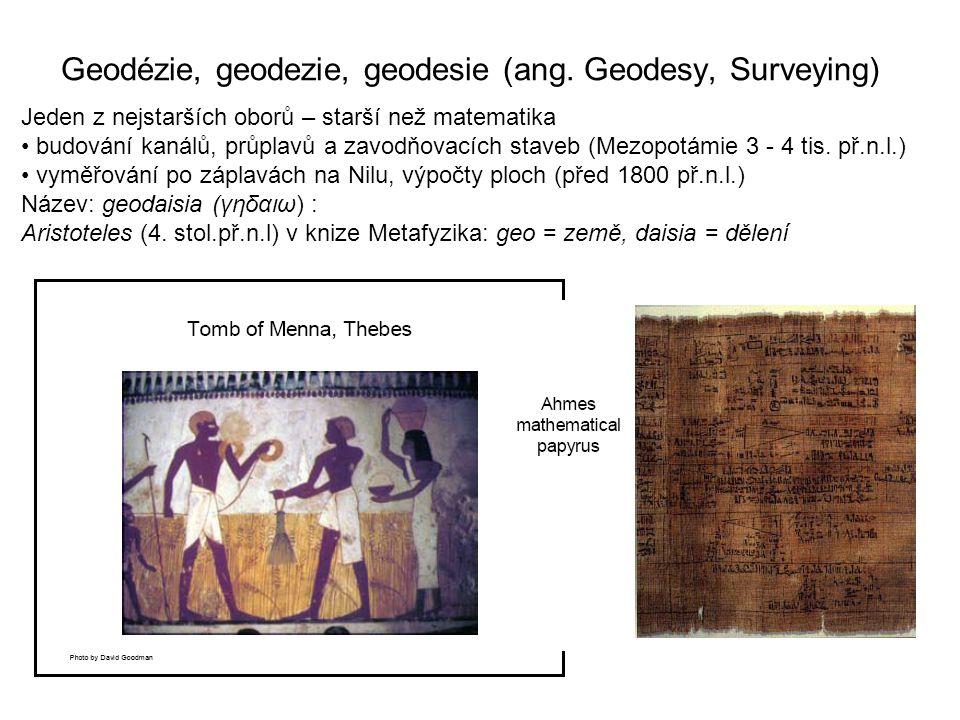 Geodézie, geodezie, geodesie (ang.