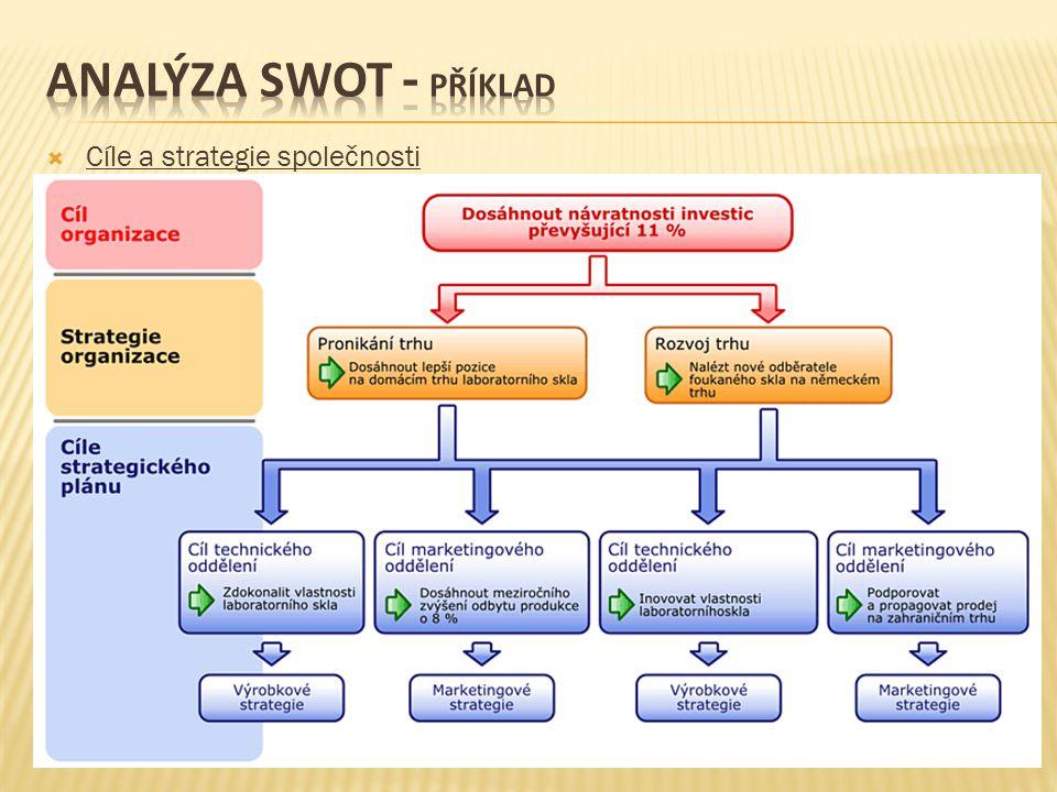  Cíle a strategie společnosti
