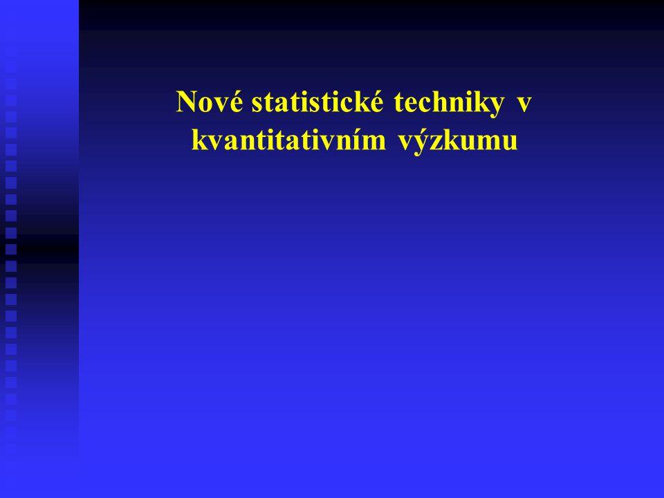 Nové statistické techniky v kvantitativním výzkumu