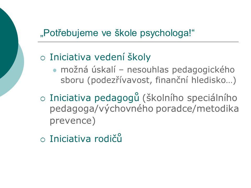 Práce školního psychologa s třídní skupinou I.
