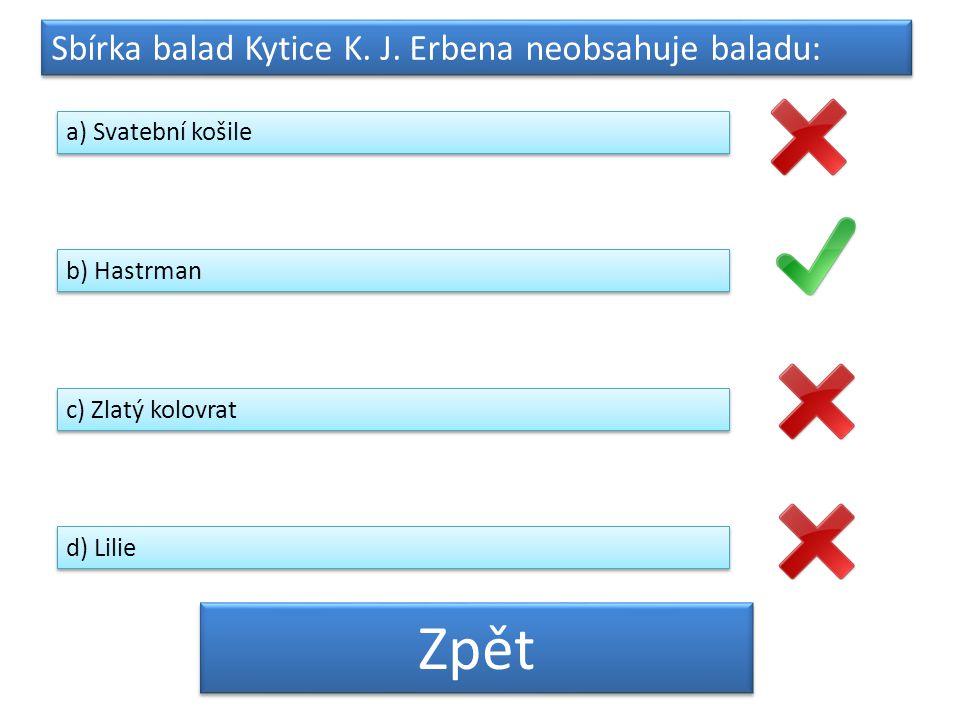 Sbírka balad Kytice K.J.