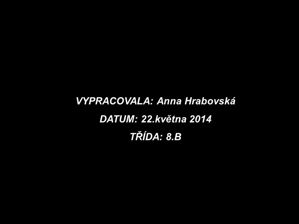 VYPRACOVALA: Anna Hrabovská DATUM: 22.května 2014 TŘÍDA: 8.B