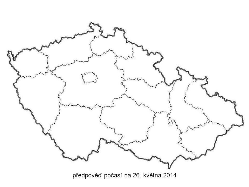 předpověď počasí na 26. května 2014