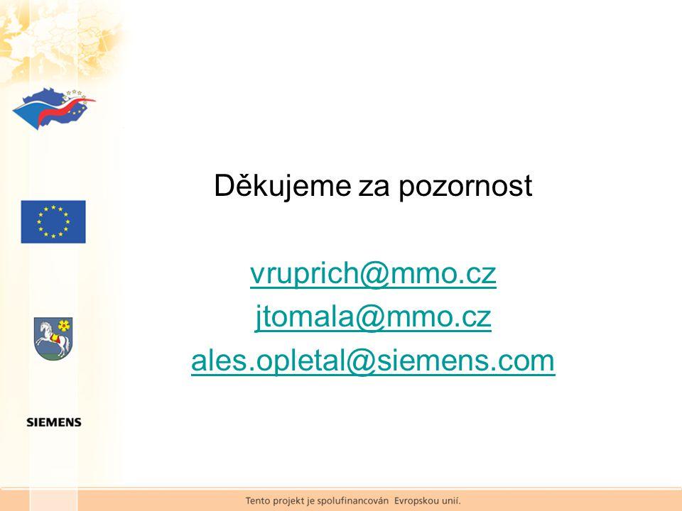Děkujeme za pozornost vruprich@mmo.cz jtomala@mmo.cz ales.opletal@siemens.com